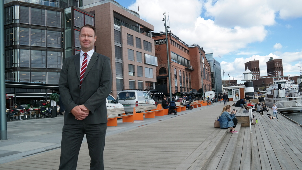 <b>TAR GREP:</b> Danske Bank, her ved landssjef Trond F. Mellingsæter, ønsker å vokse i det norske markedet. Dermed varsler de kutt i rentene.