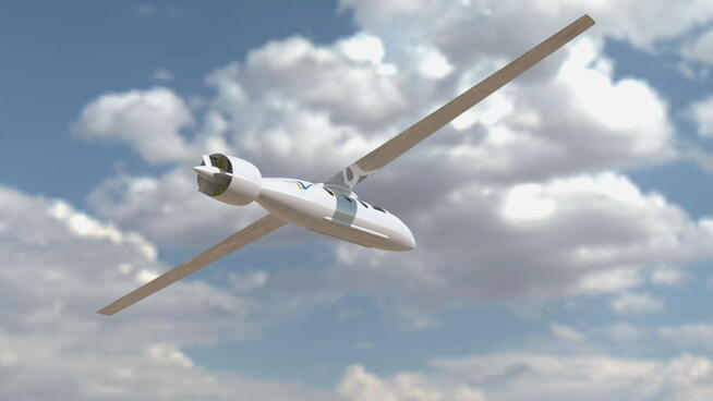 Concept drawing of an electric airplane Tailwind from Ampaire