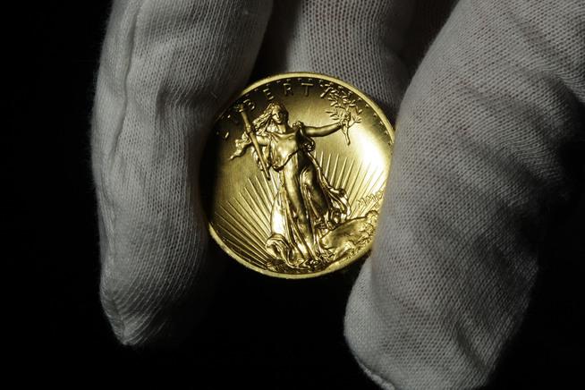 """<p><b>ATTRAKTIV:</b> Gullmynten """"Double Eagle"""" skulle ødlegges, men noen mynter ble spart og solgt til store summer flere tiår senere.<br/></p>"""