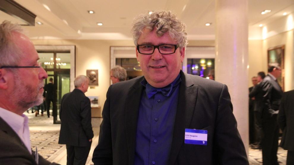 <p>Konsernsjef i oljeselskapet Okea, Erik Haugane, avbildet på Oljeindustripolitisk seminar i Sandefjord. Arkiv.</p>
