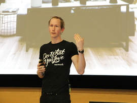<p>Henrik Taubøll leder Wework i Norden, Nederland og Baltikum sammen med Salman Saeed.</p>