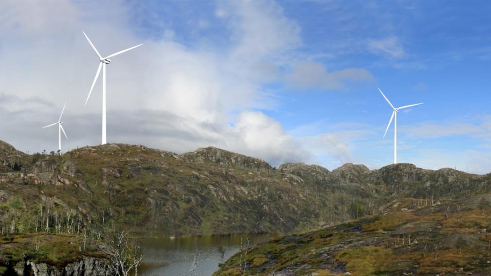 <p><b>NY PARK</b>: Tellenes vindpark i Rogaland slik den er tenkt ferdig. Parken skal bygges ut med finansiering fra blant andre verdens største investeringsfond Blackrock.</p>