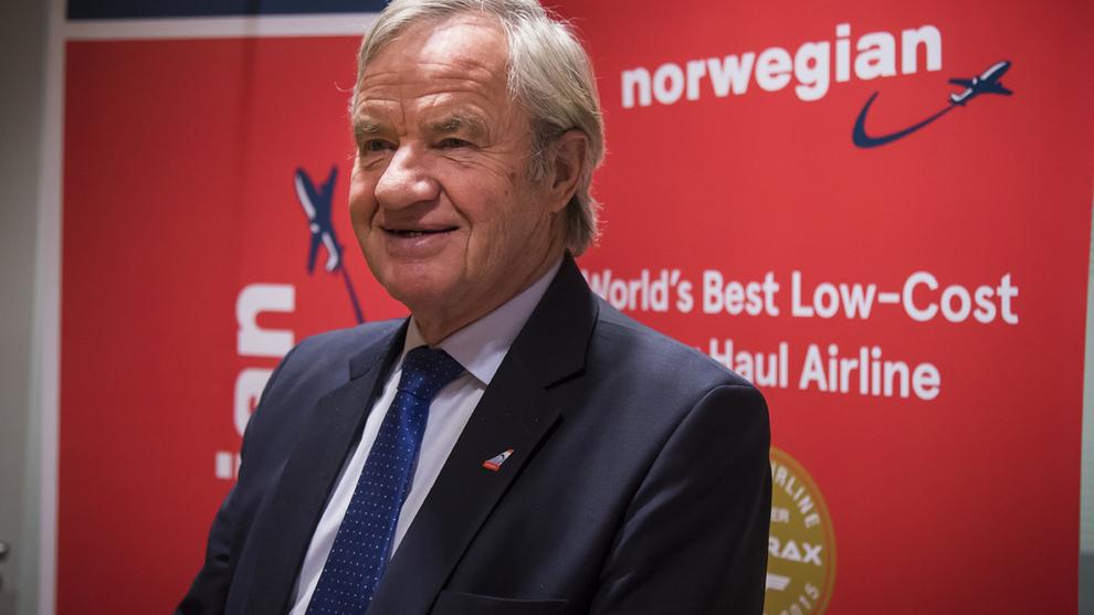 <p>Bank Norwegian har blitt en gullgruve for hovedeieren, flyselskapet Norwegian som er ledet av Bjørn Kjos. Her ved en tidligere anledning.</p>