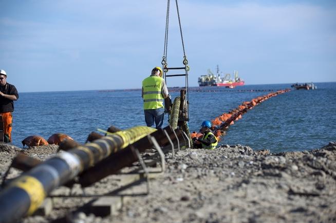 <p><b>UTVEKSLER KRAFT:</b> Illustrasjonsbilde fra leggingen av Skagerak 4-kabelen mellom Norge og Danmark.</p>