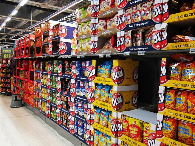 <p><b>LUFTCHIPS</b>: Chipshyllen er kjent for mye luft i posene. Dette vil også Meny slutte med, og er i dialog med leverandørene om dette.</p>