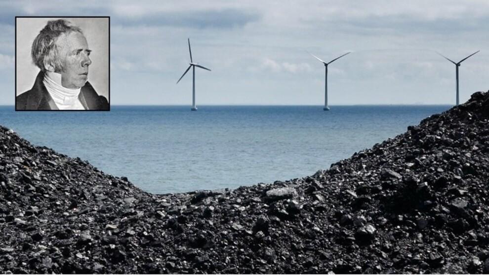 <p><b>SKIFTER NAVN:</b> Dong Energy skifter navn til Ørsted, etter den danske vitenskapsmannen ved samme navn. Navnebyttet skal markere omstillingen fra å være et av Europas mest kullintensive kraftselskaper til å hovedsakelig drive med ren energi. Bildet viser en haug med kull med havvindturbiner i bakgrunnen. Hans Christian Ørsted er innfelt.</p>