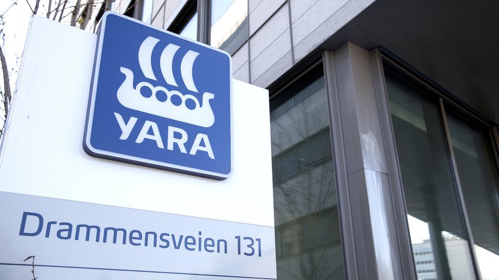 <p><b>MINDRE OVERSKUDD:</b> Yaras resultat før skatt falt i første kvartal.</p>