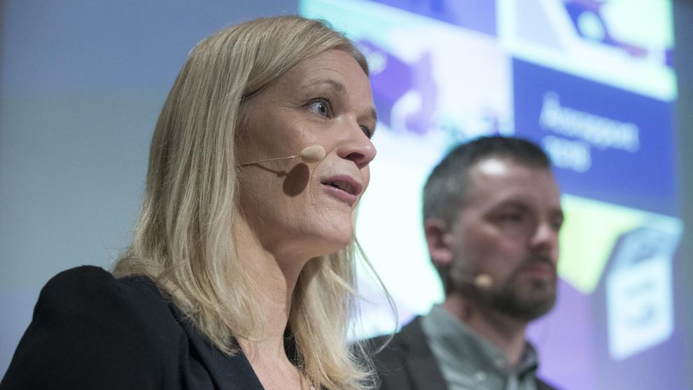 <p>Direktør i Lotteri- og stiftelsestilsynet, Gunn Merete Paulsen med frokostseminar om lotteriregler i Norge.</p>
