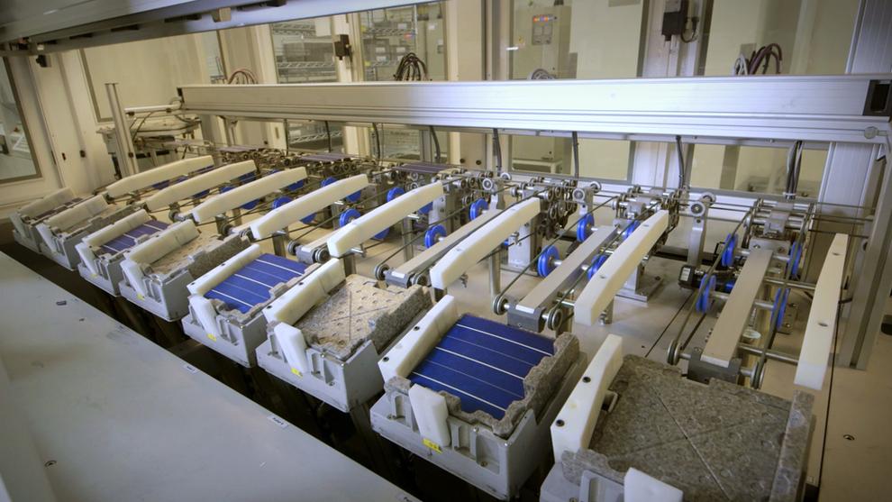 Et av Rec Groups produksjonsanlegg.Solenergiselskapet produserer både silisium til silisiumwafer, celler, og paneler til solløsninger