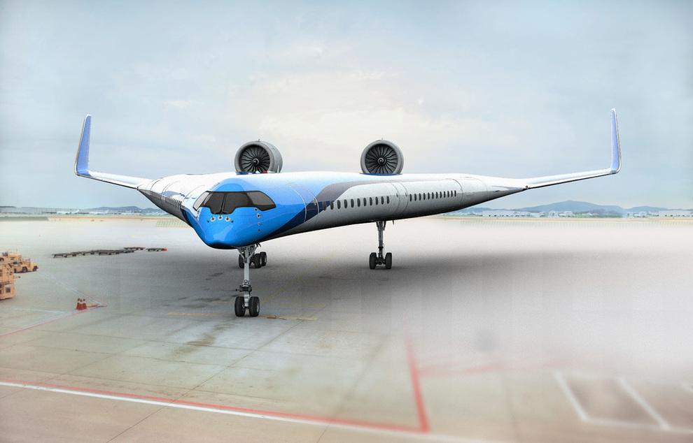 <p><b>FUTURISTISK:</b> Det V-formede flyet, som utvikles i samarbeid med universitetet i Delft, skal være lettere og mer drivstoffeffektivt enn dagens tube-formede fly.</p>