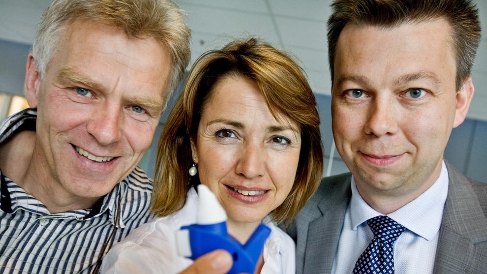 <p>Per Djupesland, Helena Kyttari Djupesland og Henrik Andersen.</p>