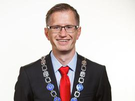 <p>Ordfører i Arendal, Robert Cornels Nordli.</p>