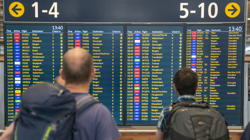 <p><b>STORSTREIK</b>: Fra fredag til og med torsdag 2. mai er over 4000 SAS-avganger innstilt. Det tilsvarer 380.917 rammede passasjerer.</p>