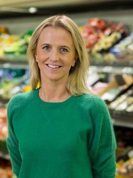 Kommunikasjonssjef Kristine Arvin i Kiwi.