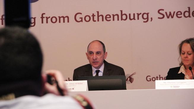Konsernsjef Akbar Al Baker i Qatar Airways besøkte Göteborg den 22. januar 2019 for å markere selskapets nye rute til den svenske byen.