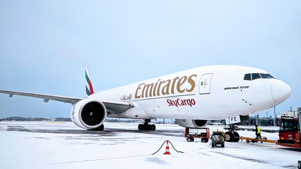 Et av Emirates' fraktfly av typen Boeing 777F