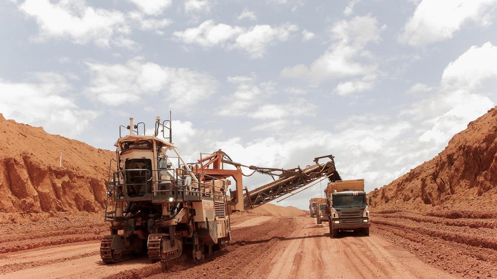 <p><b>RAMMER GRUVE:</b> Bauksittgruven Paragominas har drevet på halv kapasitet i flere måneder etter trøbbel på raffineriet Alunorte.</p>