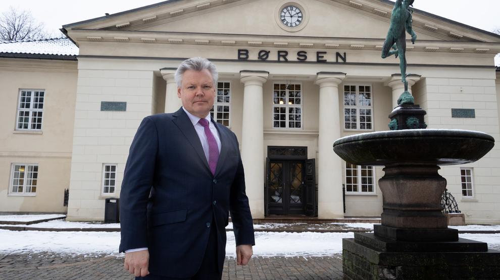 <p><b>VIL KJØPE BØRSEN:</b> Sjef i Nasdaq Nordics, Lauri Rosendahl, var på besøk hos Oslo Børs tidligere i år.</p>