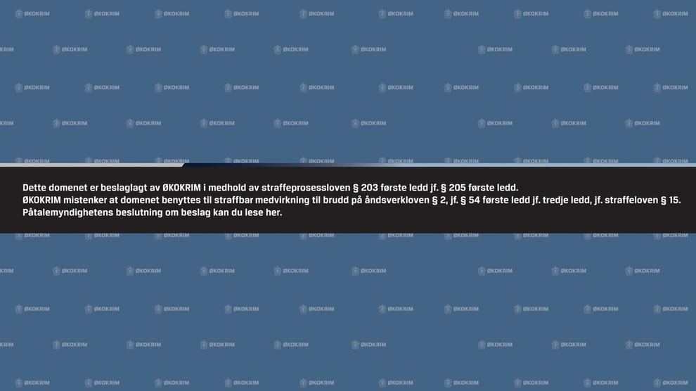 <p><b>BESLAGLAGT:</b> Slik har nettstedet popcorn-time.no sett ut siden Økokrim tok beslag i domenet for halvannet år siden.</p>