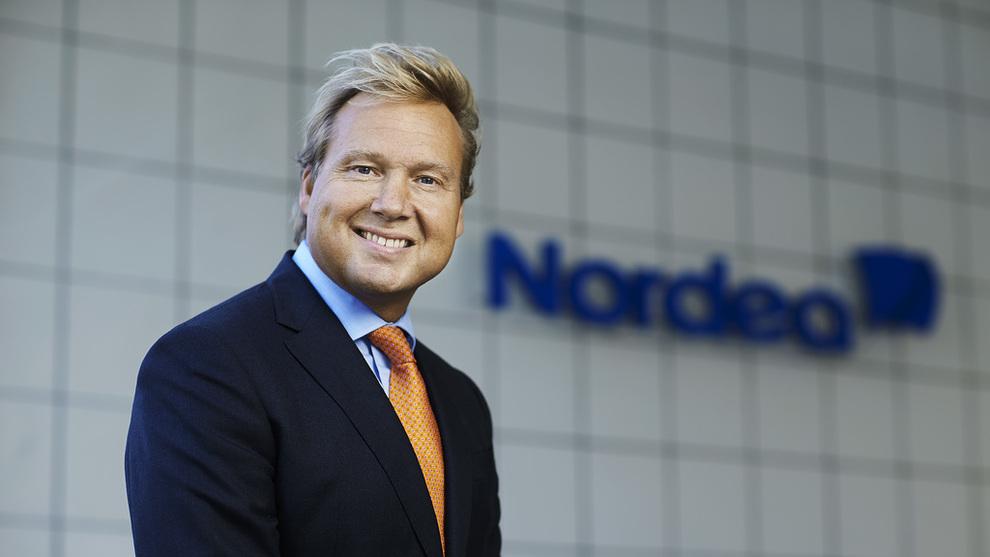 <p><b>VARSLER MER PRISFALL:</b> Men John Sætre, sjefen for Nordeas norske bankvirksomhet, avviser at det gir behov for å stramme inn på boliglån i Oslo.</p>