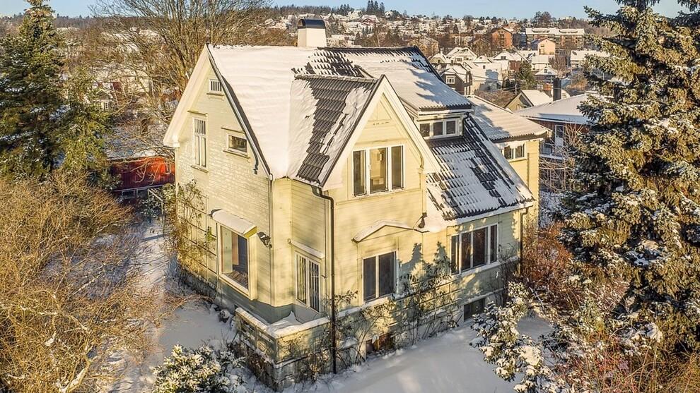 <p><b>STIV PRIS:</b> Dette huset på Tåsen i Oslo ble solgt for ikke mindre enn 19,2 millioner kroner.</p>