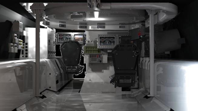 Illustrasjonen viser kommunikasjons- og styringssystemene som Kongsberg Gruppen skal levere til Qatars nye pansrede kjøretøy fra Nexter.