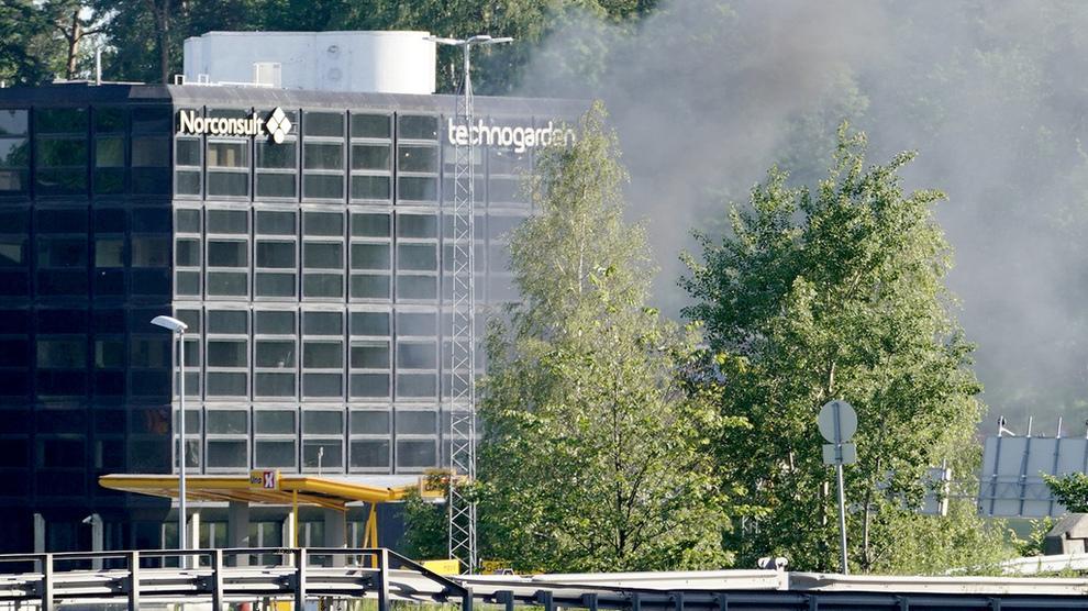 <p><b>ULYKKE:</b> Eksplosjonen skjedde ved en Uno-X-stasjon i Sandvika mandag.</p>