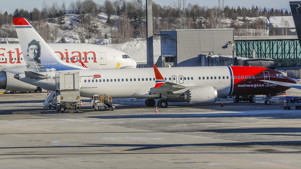 <p><b>PARKERT:</b> Norwegian har satt flyene av typen 737 MAX 8 på bakken.</p>