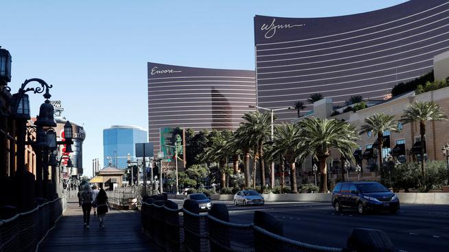 <p><b>530,8 MILLIONER:</b> Oljefondets egen oversikt viser at over en halv milliard kroner var investert i Wynn Resorts ved utgangen av 2016. Her sees det enorme kasinoet på The Strip i Las Vegas.</p>