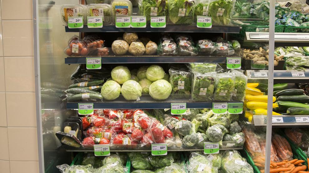 <p>Illustrasjonsbilde av grønnsaker i en Meny-butikk.</p>