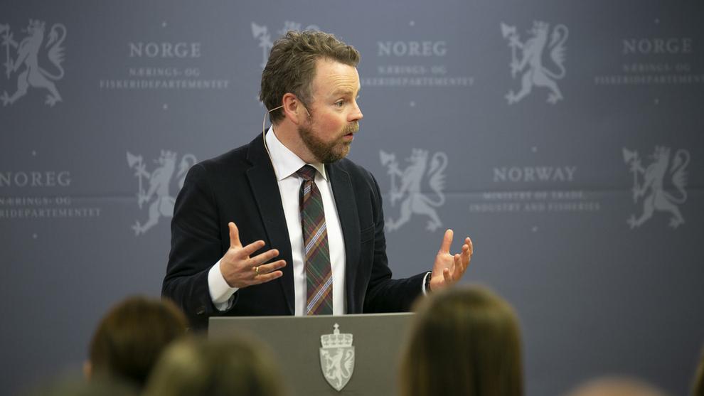 <p>Næringsminister Torbjørn Røe Isaksen er mandag på møte i EFTA for å diskutere nye handelsavtaler. Bildet er fra en tidligere anledning.</p>