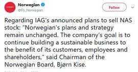 <p><b>TWEET:</b> Storeier og styreleder Bjørn Kise la ut denne Twitter-meldingen etter nyheten. Der sier han at selskapets strategi fortsetter som før.</p>