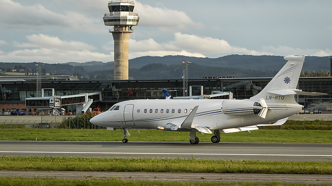 <p><b>PÅ VÆRNES</b>: Reitan-familiens privatfly.</p>