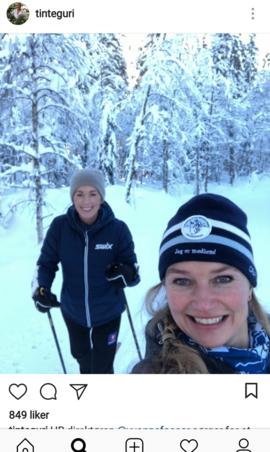 <p><b>FOSSER OG TRAASETH:</b> Her på skitur.</p>