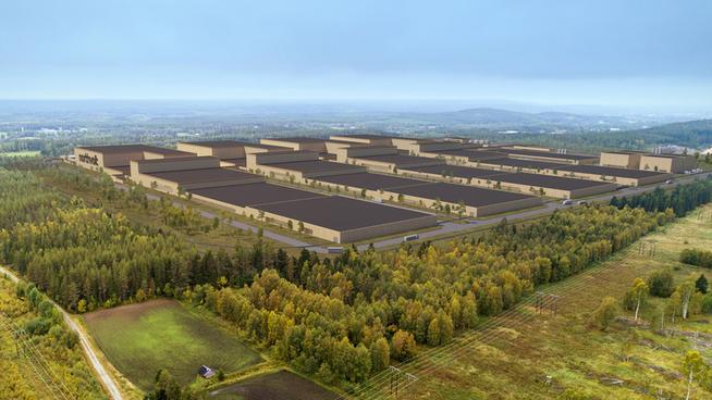 <p><b>STOR FABRIKK:</b>Slik skal fabrikken Northvolt Ett i svenske Skellefteå etter planen se ut. Selskapet jobber nå med finansieringen.</p>