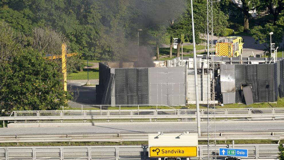 <p>Mandag skjedde det en eksplosjon ved hydrogenstasjonen til Uno-X i Sandvika.</p>