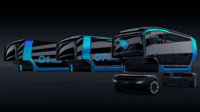 <p><b>BYTTER FUNKSJON:</b> Med hjelp av moduler forvandles kjøretøyet fra buss til søppelbil eller lastebil gjennom døgnet.</p>