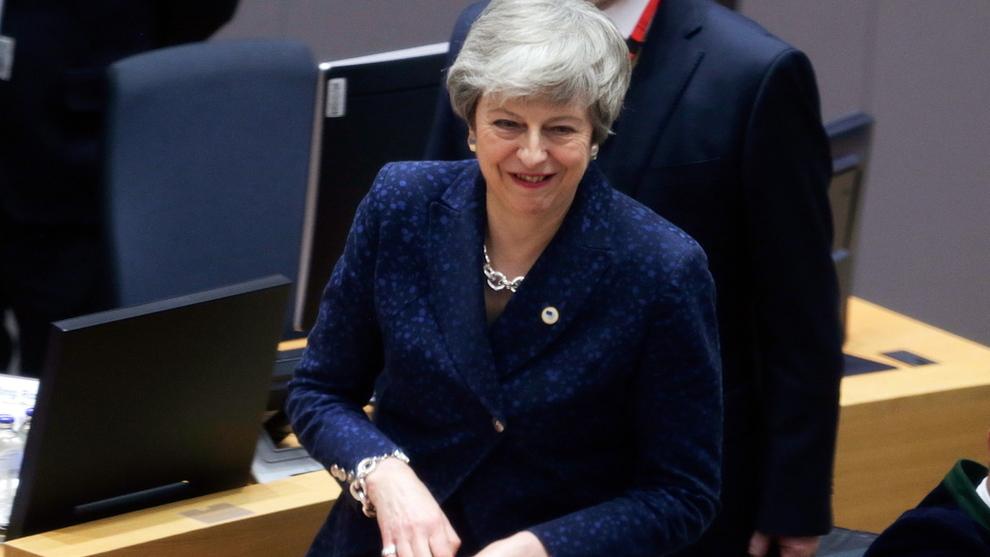 <p><b>SISTE FRIST:</b> Storbritannias statsminister Theresa May er i Brussel for å forhandle om brexit med EUs toppledere.</p>