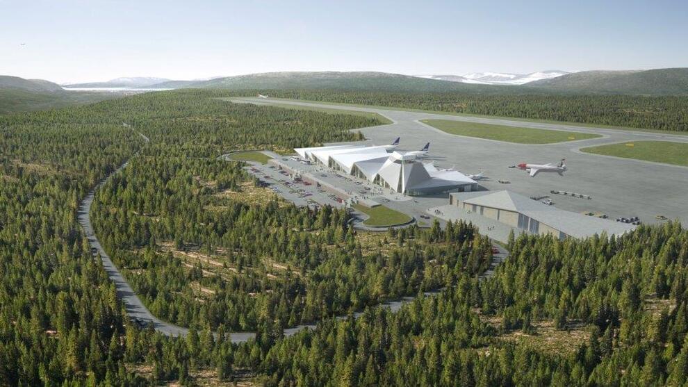 <p><b>FLYPLASS-DRØMMEN:</b> Slik skal etter planen den nye hovedflyplassen på Helgeland se ut.</p>