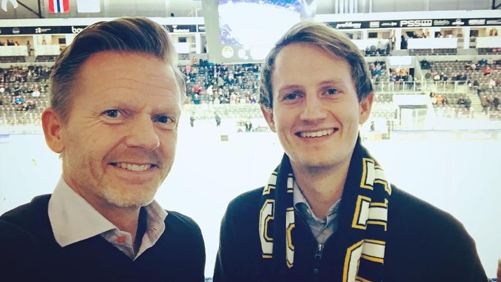 <p><b>VIL ENDRE GJELDSREGISTERET:</b> Tage Pettersen (t.v.) og Aleksander Stokkebø i regjeringspartiet Høyre.</p>