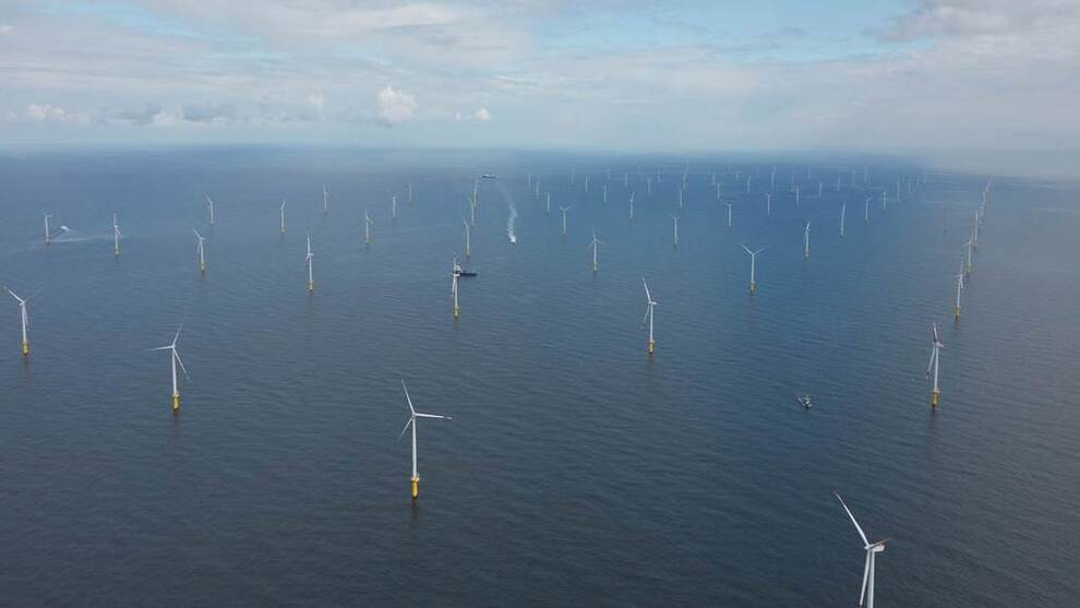 <p><b>SLIK SKAL DET SE UT:</b> Arkona-parken vil bestå av 60 turbiner, som alle er bunnfestet. Prosjektet skal bygges ut i Østerssjøen, rett sør for den danske øya Bornholm.</p>