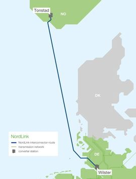 <p><b>UNDER SJØEN:</b>Dette er Nordlink-traseen.</p>