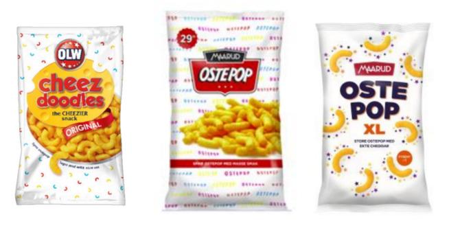 <p><b>IKKE LIKE NOK:</b> Konkurranseutvalget mener Maaruds ostepop ikke ligner nok på Orklas Cheez doodles til at det er brudd på markedsføringsloven.</p>
