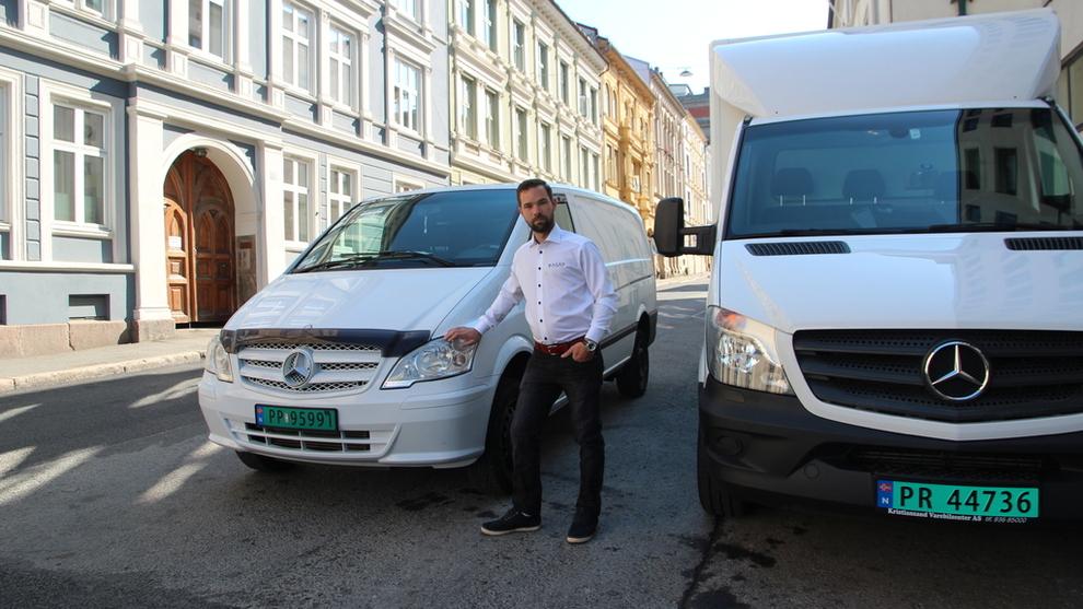 <p><b>KLARE FOR KAMP</b>: Tommy Larsen er en av gründerne bak Asap-appen som har sprunget ut av selskapet Mavi Logistikk som leverer varer for Elkjøp og en rekke andre butikkjeder på Østlandet. Plattformen skal knytte sammen sjåfører med bedrifter eller forbrukere som trenger å sende et produkt.</p>