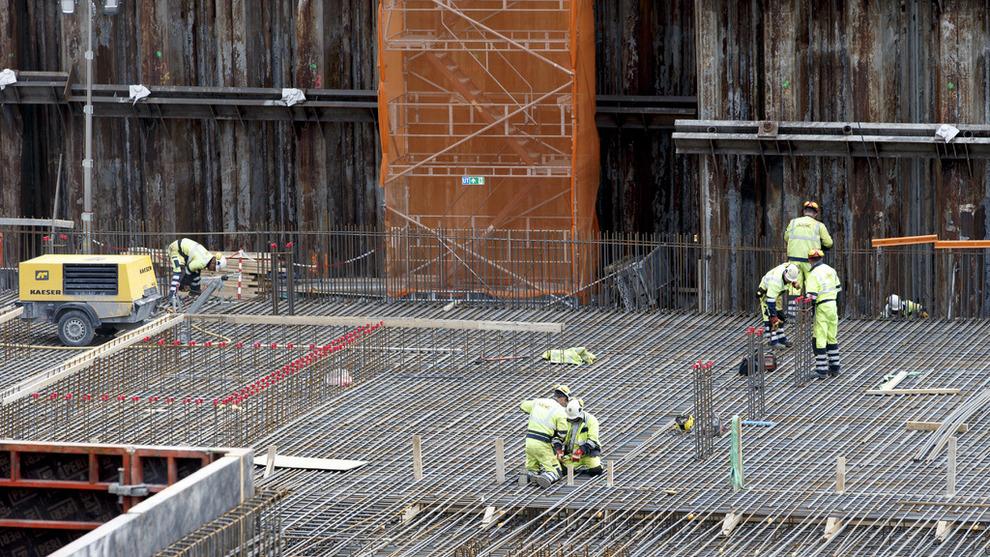 <p><b>GÅR GODT:</b> Bygg- og anleggsnæringen bidro til å dra opp tremånedersveksten i BNP for Fastlands-Norge.</p>