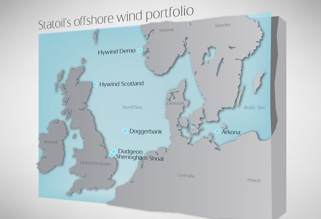 <p><b>FØRSTE I TYSKLAND:</b> Samtlige av Statoils tidligere havvindparker ligger i Storbritannia. Arkona-parken bygges sør for den danske øya Bornholm.</p>