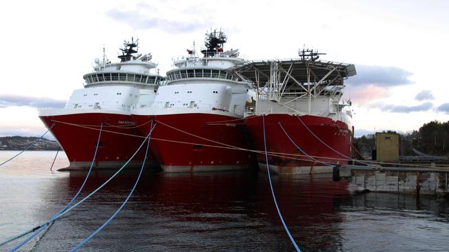 <p><b>I OPPLAG:</b> Mange av Farstad Shippings supplyskip ligger i opplag fordi det ikke er oppdrag til de.</p>