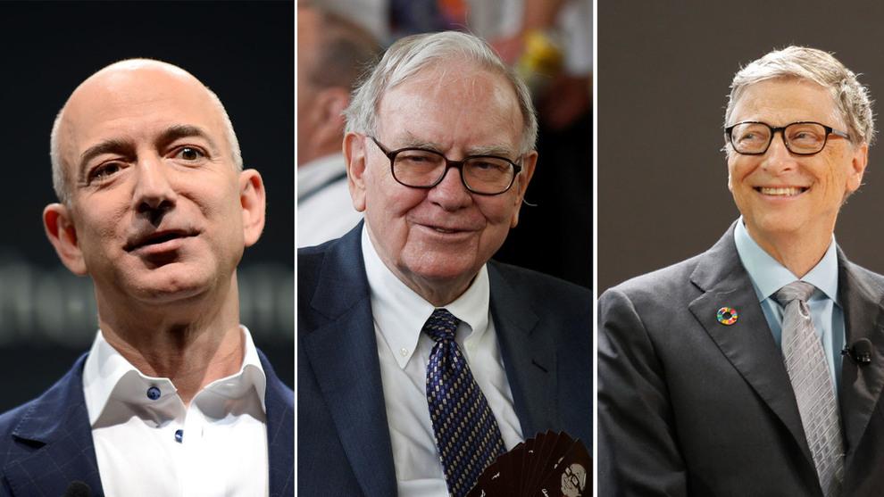 <p><b>GIGANTER:</b> Microsofts Bill Gates, Amazon-grunnlegger Jeff Bezos og investor Warren Buffet sitter på formuer som kombinert er verdt ca. 2027 milliarder kroner. Det gjør de tre amerikanerne til mer velstående enn landets fattigste halvdel, omtrent 160 millioner mennesker, sammenlagt.</p>