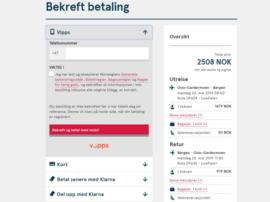 Norwegian har inngått et samarbeid med Vipps for betaling