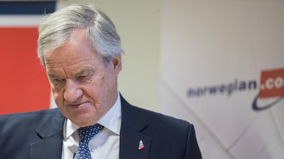 <p><b>AKSJENEDTUR:</b> Norwegian-aksjens nivåer har nok blitt holdt opp av forventning om oppkjøp. Nå sier beiler IAG at det ikke blir noe av. Hers er vi det norske flyselskapets konsernsjef og gründer, Bjørn Kjos.</p>